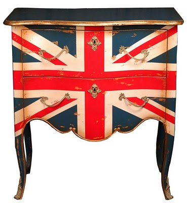 Commode with British Flag