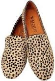 walnut leopard slipper